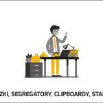 Teczki, segregatory, clipboardy, puzzle, standy